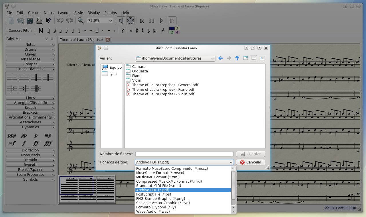 musescore how to save as pdf